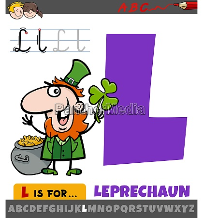 letter l from alphabet with cartoon