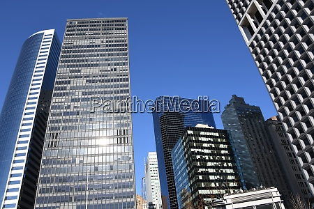 the skyline of the skyscrapers in