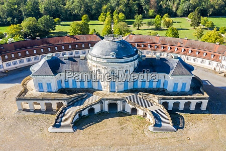 stuttgart solitude castle aerial photo view