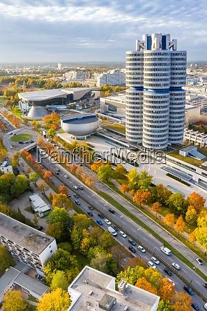 munich muenchen skyline aerial view photo