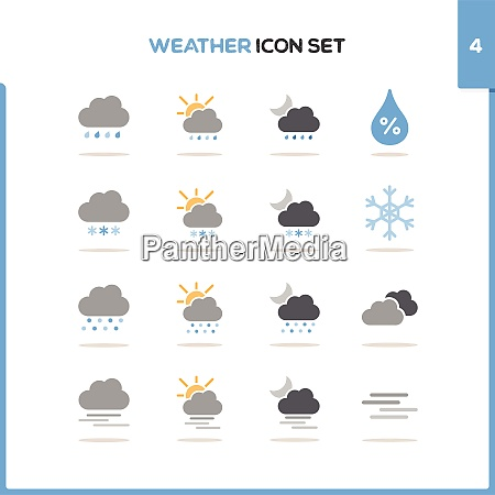 weather icon set color icon set