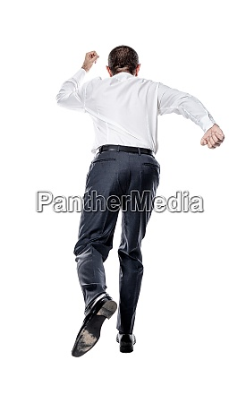 businessman running from behind