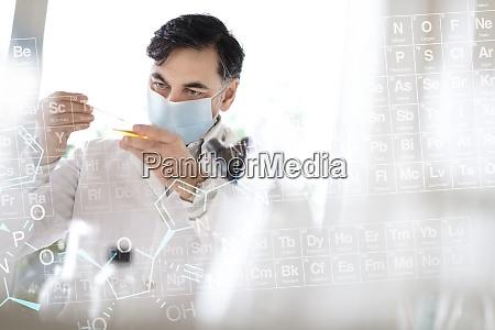 doctor testing sample