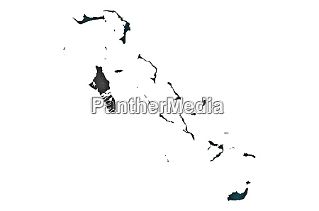 map and flag of bahamas on
