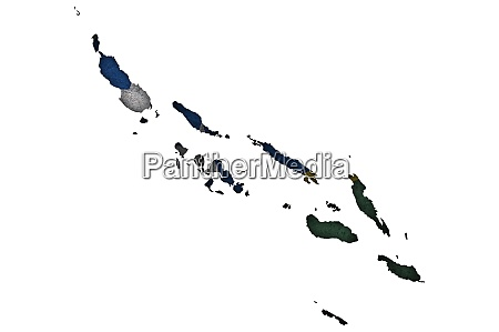map and flag of solomon islands