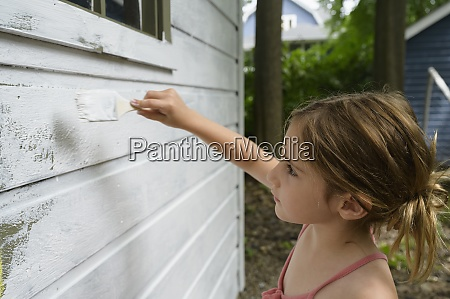 girl 6 7 painting cottage wall