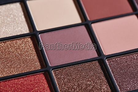 close up of palette of colorful