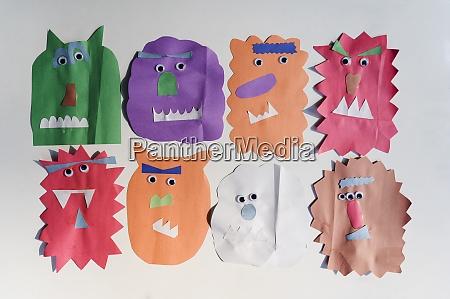 colorful paper cutouts