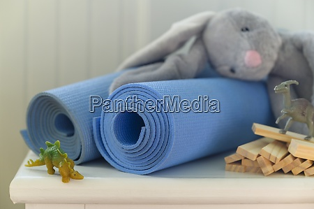 exercise mats with stuffed toy