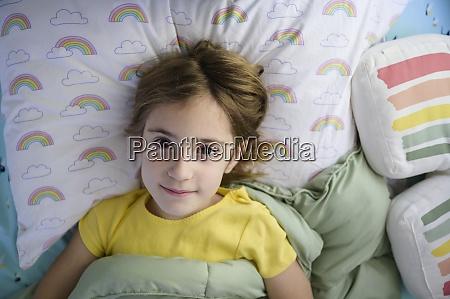 portrait of girl 6 7 lying