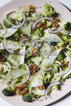 close up of fresh salad on