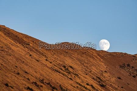 usa idaho sun valley moon behind