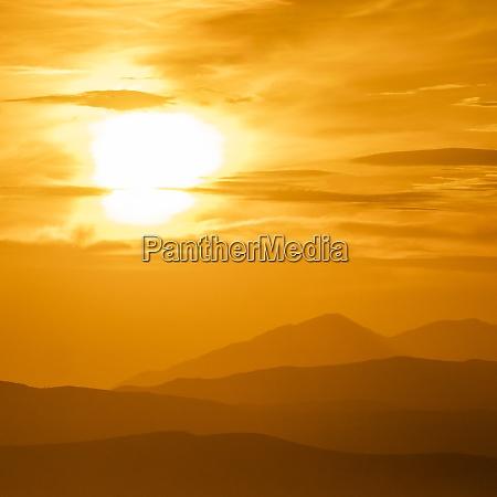 usa idaho sun valley sunset sky