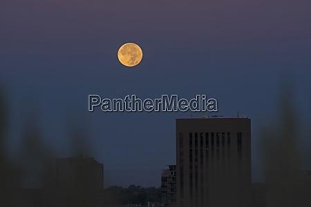 usa idaho boise full moon over