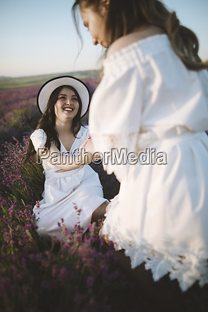 france young women in white dresses