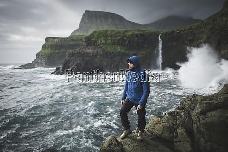 denmark faroe islands gasadalur village mulafossur