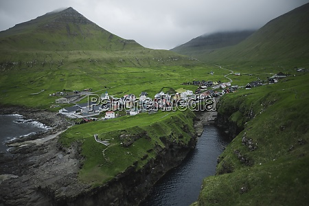 denmark faroe islands gjgv village on