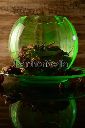 depression glass rose bowl