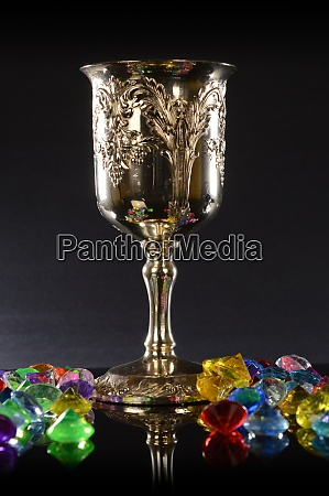treasured silver wineglass