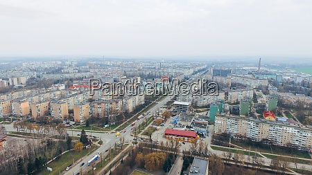 aerial view of the city ternopil