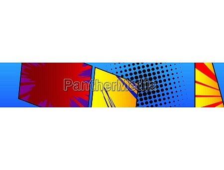 comic book banner cartoon background
