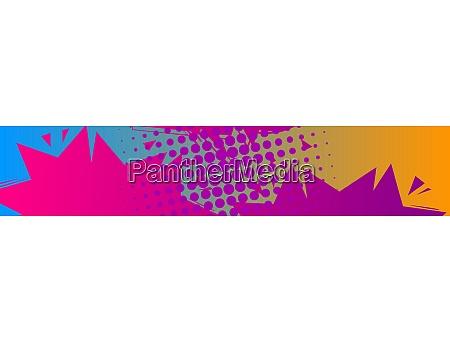 comic book banner cartoon background
