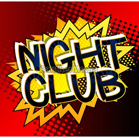 night club comic book style cartoon