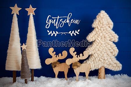 christmas tree moose snow gutschein means