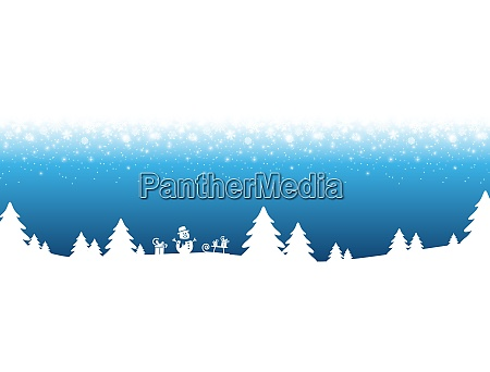 xmas background with snow fall and