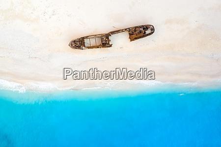 zakynthos island greece shipwreck navagio beach