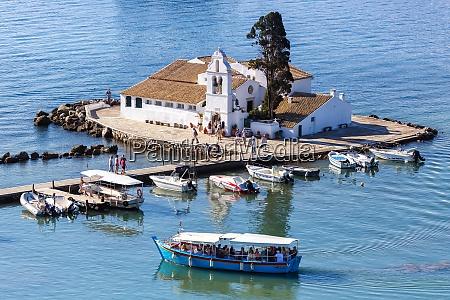 corfu greece vlachernon vlacherna church kanoni