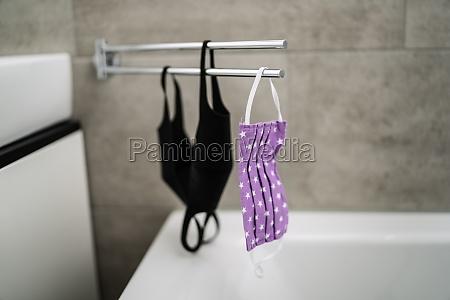 drying reusable face masks