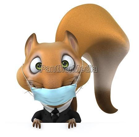 fun 3d cartoon squirrel with a