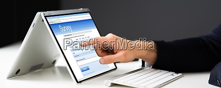digital online research survey form