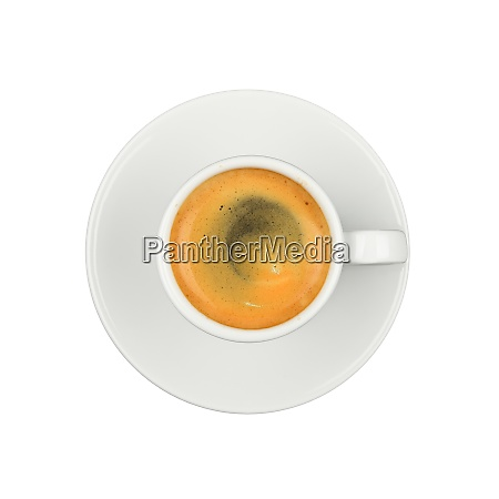 white cup of espresso coffee on