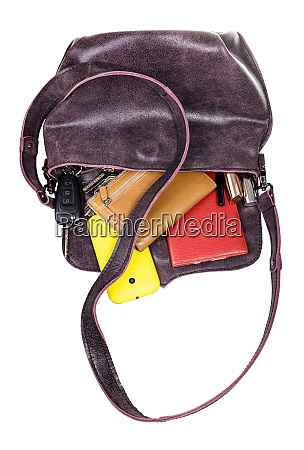 soft ladies leather bag with dropped