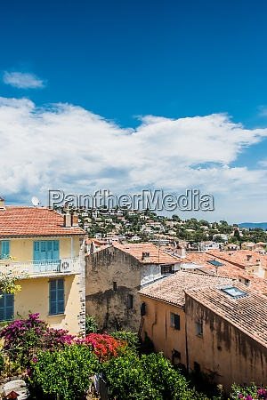 panorama on the old town hyeres