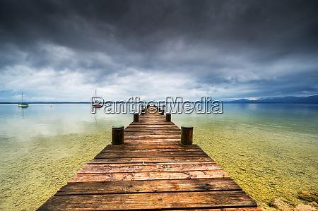 a big lake with the name