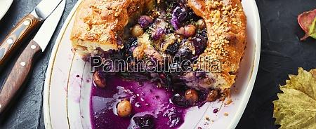schiacciata with grapes