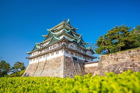 nagoya castle and city skyline