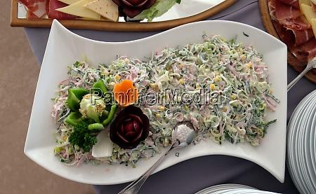 classic croatian plate with fine salad