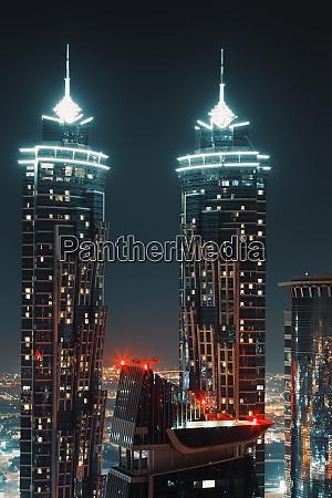 skyscrapers at nignt