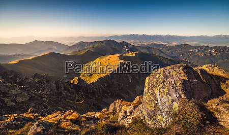 mountain landscape in golden light