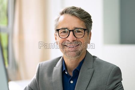 confident senior man portrait
