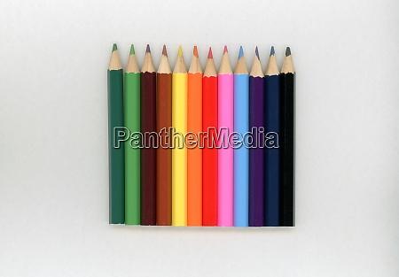 coloured pencils crayons