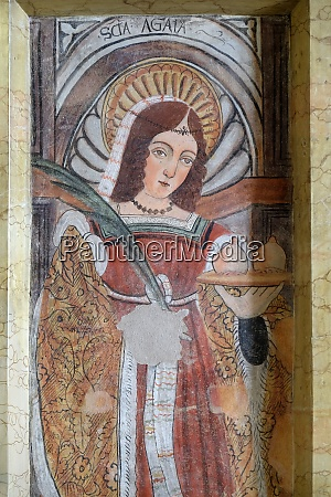 saint agatha fresco in the church