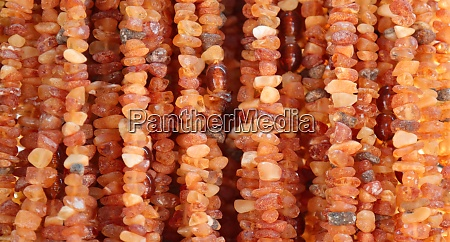 beads made of amber gemstone