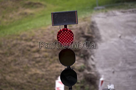 mobile traffic light signal on the