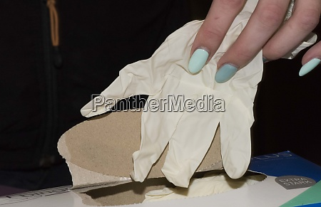 latex glove with danger of epidemics