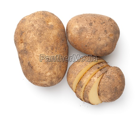 organic potatoes composition isolated over white